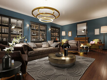 A Modern Eclectic Living Room ...