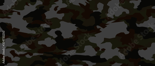 Fotomural Full seamless camouflage texture skin pattern vector for military textile