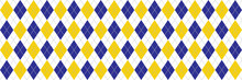 Navy Blue And Yellow Argyle Ba...