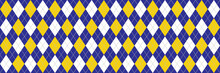 Navy Blue And Yellow Argyle Background