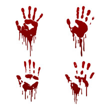 Collection Of Bloody Handprint...