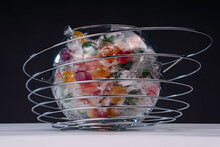 Candy Lollipops In A Transpare...