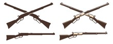 Winchester Rifle Retro Icon. W...