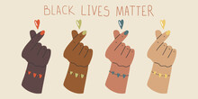 Black Lives Matter. Protest Banner