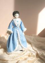 Little Porcelain Figure Of A Standing Doll, Antique Collection, Porcelain Figures