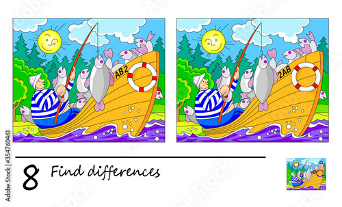 Find 8 differences Canvas Print