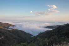 Low Coastal Clouds In Santa Ynez Mountains, California