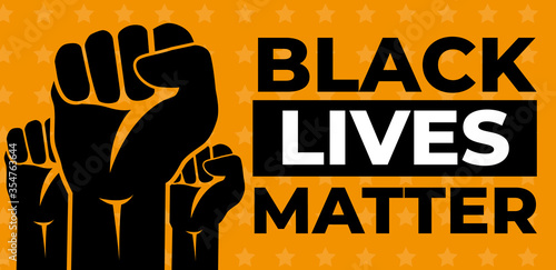 Black Lives Matter. Vector Illustration Canvas Print
