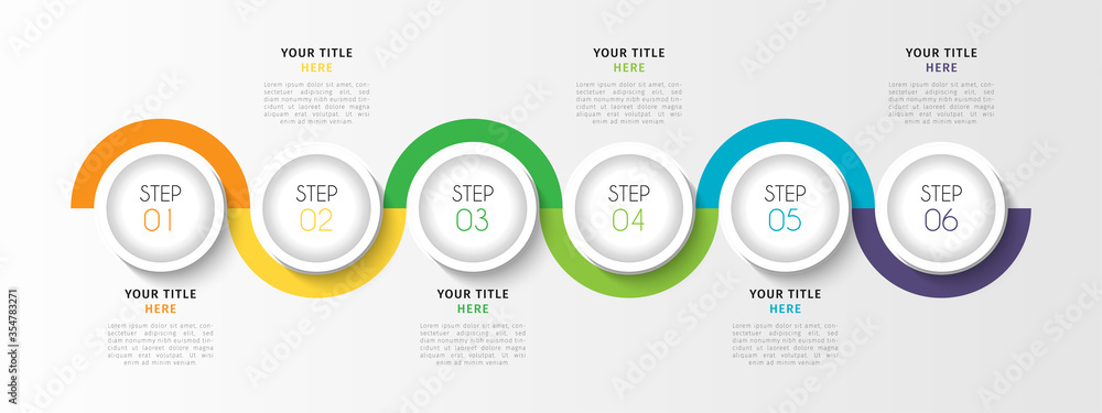 Fototapeta Business infographic element with options, steps, number vector template design
