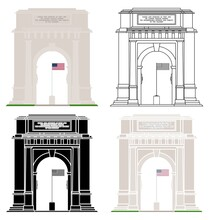 National Memorial Arch In Front View
