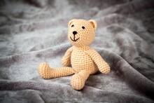 Cute Brown Teddy Bear Sitting ...