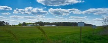 Panoramic Shot Of An Airfield ...