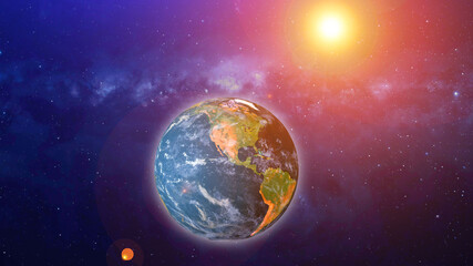 Earth sunrise isolated  planet astrology astronomy space. Elements of this image furnished by NASA.