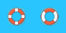 Life Buoy Vector Icon Illustra...