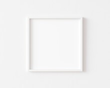 White Square Photo Frame On Wh...
