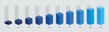 Blue Gradient Chart Bars Templ...