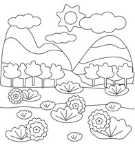Cute Kids Coloring Book With L...