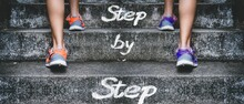 People Climbing The Stairs Wit...