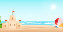 Holiday By The Sea With Sand C...