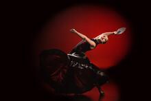 Young Flamenco Dancer In Dress...