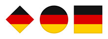 Germany Flag Icon Set. Isolate...