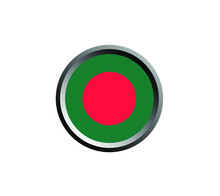 Bangladesh National Flag Icons Theme. Bangladesh Flag Symbol. Bangladesh Flag Flat Design Vector Illustration.