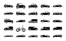 Urban City Car Glyph Icons