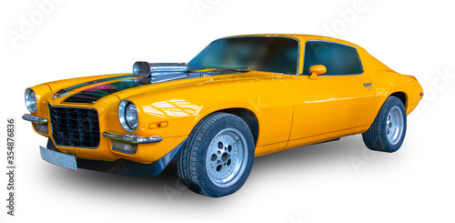American old Muscle Car. White background. Canvas-taulu