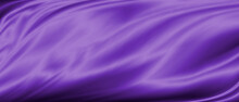 Purple Luxury Fabric Background With Copy Space