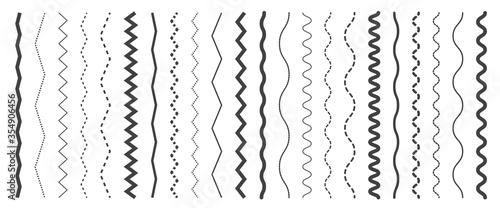 Fotografie, Obraz Seamless wavy zigzag line set