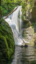 Beautiful Waterfall Going Into...