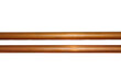 Leinwandbild Motiv copper metal pipe on white background