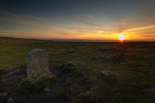 Sunset Over Dartmoor National ...