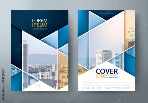 Fototapeta Annual report brochure flyer design template vector, Leaflet, presentation book cover templates, layout in A4 size obraz