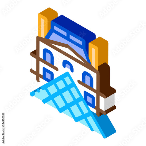 Fototapeta french louvre icon vector