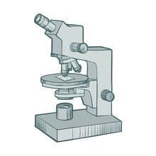 Microscope Cartoons Monochrome...