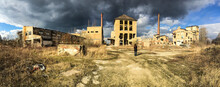 Abandoned Ruined Factory In Su...
