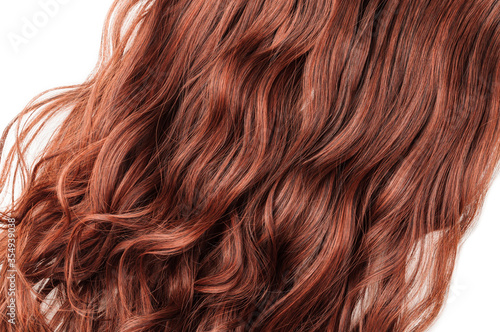 Single piece clip in auburn wavy synthetic hair extensions Canvas Print