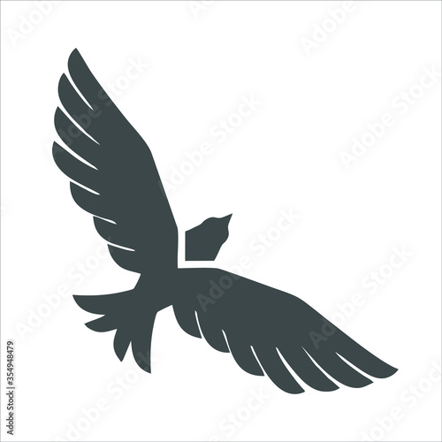 Eagle icon, Eagle logo, Eagle icon isolated black on white background, Eagle Icon Picture, Eagle Icon Vector, Eagle Falcon, Head Eagle Design, Eagle Falcon Vector Logo Template, Eagle Logo Vector Canvas Print