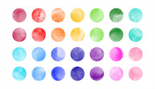 Watercolor Circle Shape Stains...