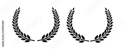 Fotografering Circular laurel foliate vector icon