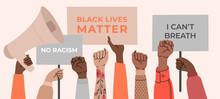 Black Lives Matter, Crowd Of P...