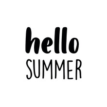 Hello Summer Quote Simple
