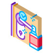 keyhole disinfection icon vector. isometric keyhole disinfection sign. color isolated symbol illustration