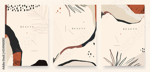 Fototapeta Abstract trendy universal artistic background template . Good for cover, invitation, banner, placard, brochure, poster, card, flyer and other. obraz na płótnie