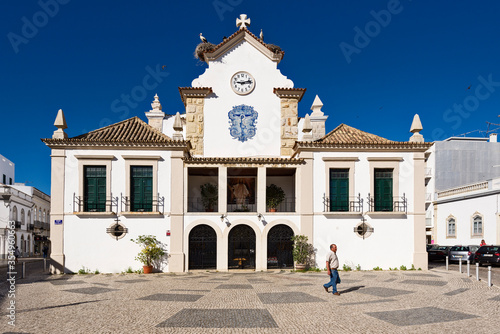 Chapel of Our Lady of the Afflicted in Olhao, Algarve, Portugal Canvas Print