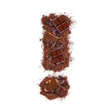 Exclamation Mark Made Of Choco...