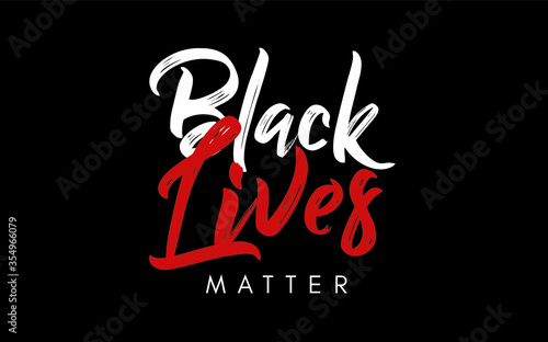 Vászonkép Black Lives Matter stamp message in vector illustration.
