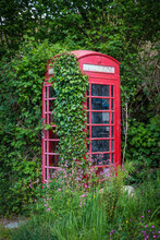 Abandoned Red British Phone Bo...
