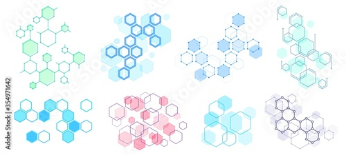 Abstract hexagonal structure Canvas Print
